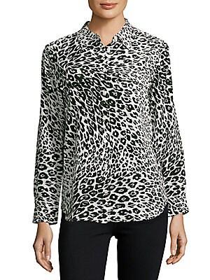 Leopard Printed Silk Shirt