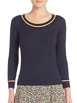 Stripe-Detail Wool Sweater