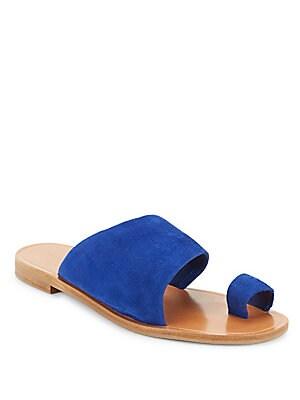 Suede Slip-On Sandals