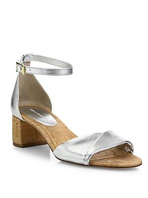 Florence Metallic Nappa Leather Sandals