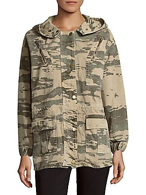 Camo-Print Cotton Jacket