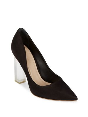 Leather Slip-On Pumps Saks Fifth Avenue