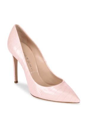 Point Toe Leather Pumps Casadei