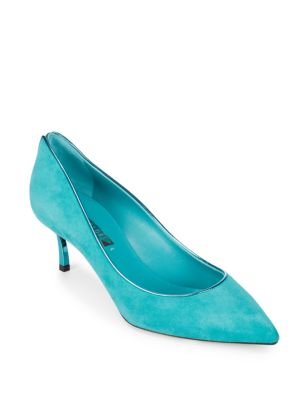 Camoscio Leather Stiletto Pumps Casadei