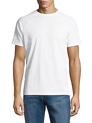 Solid Pima Cotton-Blend Tee