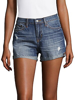 Hannah Distressed Cotton Shorts