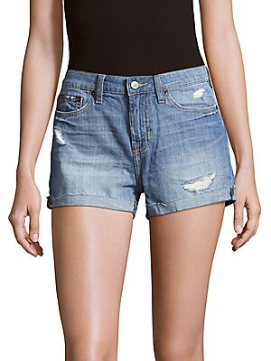 Distressed Cotton Shorts