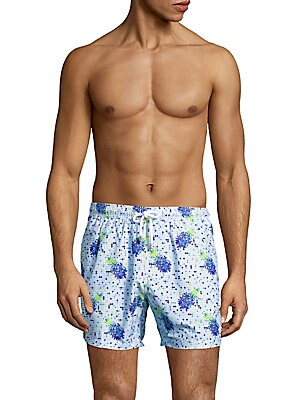 Pineapple-Printed Low-Rise Swim Trunks