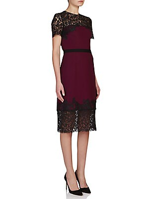 Keni Lace-Trim Sheath Dress