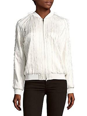 31 phillip lim female bomber fringe jacket
