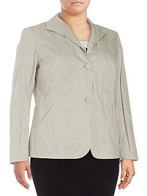 Laverna Solid Long-Sleeve Jacket