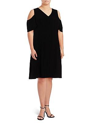 A-Line Cold-Shoulder Dress