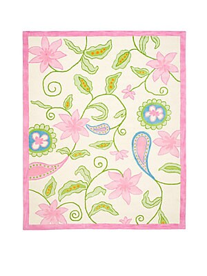 Floral Wool-Blend Rug