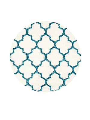 Geometric Patterned Round Rug