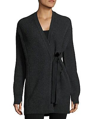Textured Wool-Blend Cardigan