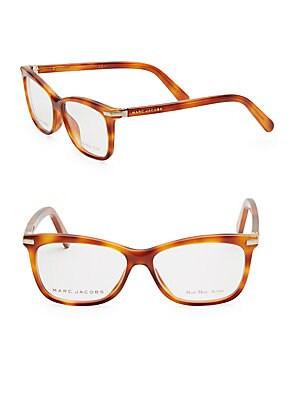 marc jacobs female 50mm tortoiseshell square optical glasses