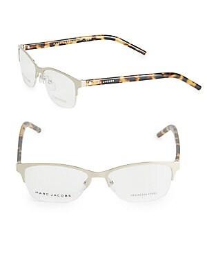 marc jacobs female 52mm halfrim optical glasses