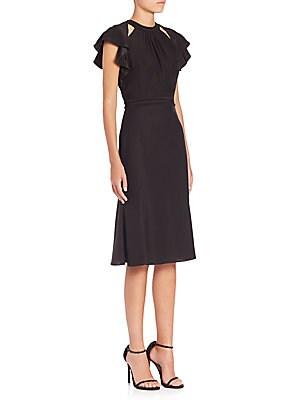 Claudette Ruffle Detail Dress