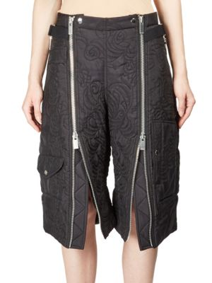 Floral Quilted Zip Cargo Shorts Sacai