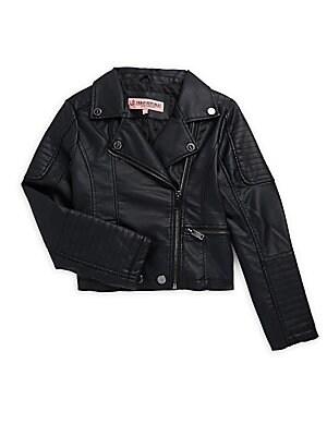 Little Girl's & Girl's Asymmetrical Moto Jacket