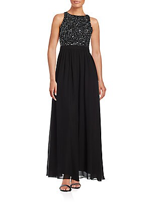 aidan mattox female beaded racerback aline gown