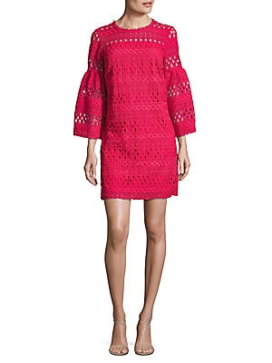 Venise Bell Sleeve Lace Dress