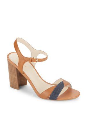 Florena Leather Colorblock Sandals