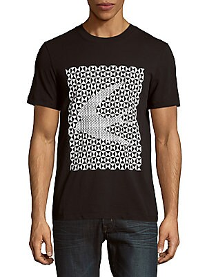 Geometric-Print Cotton Tee