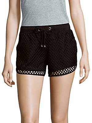 Solid Open-Mesh Shorts