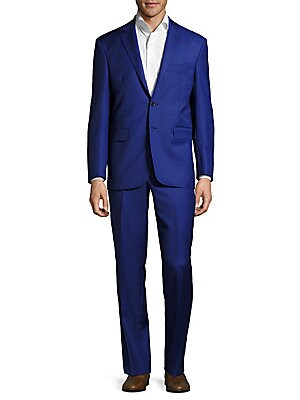Classic Fit Solid Wool Suit