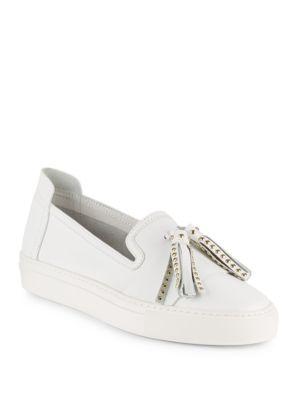 Bern Tasseled Leather Slip-On Sneakers