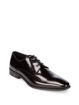 Almond Toe Leather Derbys Versace Collection