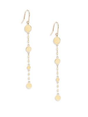 14K Yellow Gold Drop Earrings