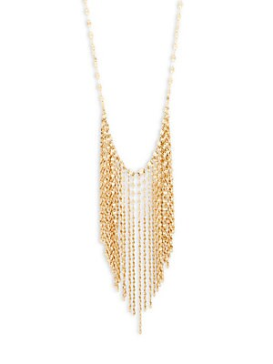Click here for 14K Yellow Gold Fringe Necklace prices