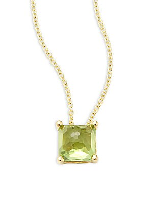 Click here for Peridot & 18K Yellow Gold Pendant Necklace prices