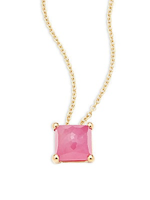 Click here for Composite Ruby & 18K Yellow Gold Pendant Necklace prices
