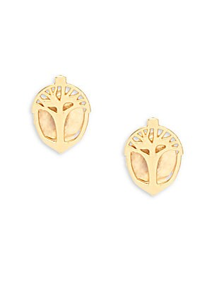 Unexpected Miracles 14K Yellow Goldplated & Sterling Silver Earrings