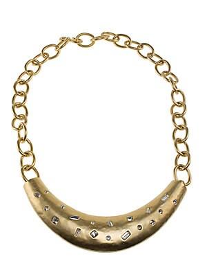 Pave Crystal Bib Necklace