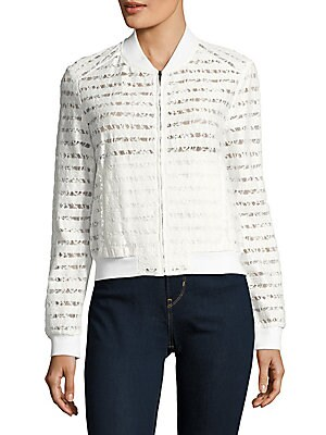 Lace-Paneled Jacket