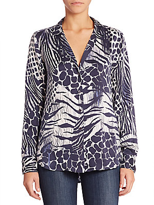 Adalyn Animal Printed Blouse