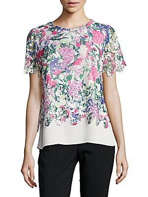 Laced Printed Andretta Blouse