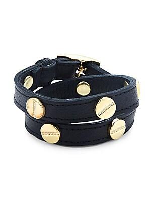 Crystal & Leather Wrap Bracelet