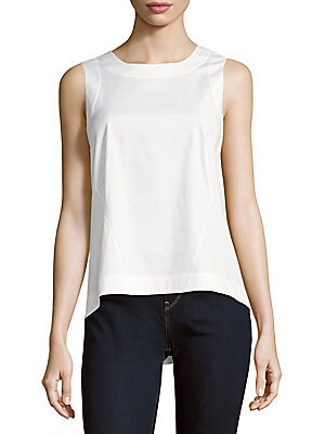 lafayette 148 new york female melina solid sleeveless top