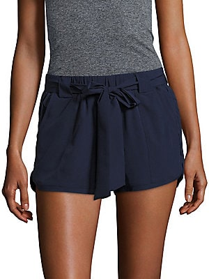 Solid Tie-Up Shorts