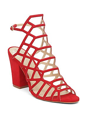 Naveena Cutout Leather Sandals