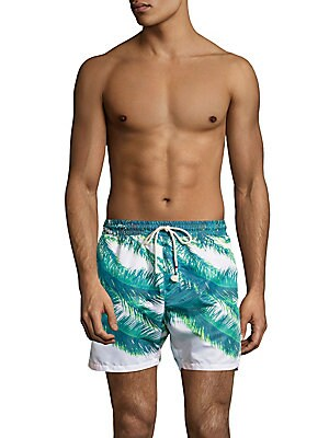 Palm-Print Swim Shorts