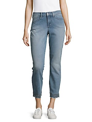 nydj female faded cropped jeans