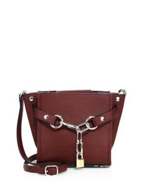 ALEXANDER WANG Attica Mini Chain Leather Satchel in Beet