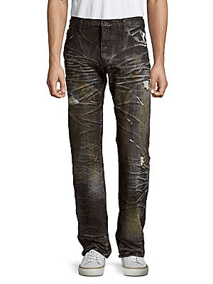 Agreement Distressed Cotton Denim Pants