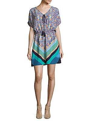 Tropical Printed Mini Dress